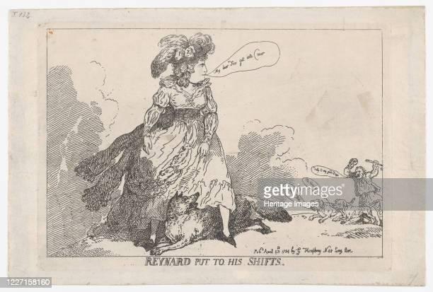 Reynard Put To His Shifts April 23 1784 Artist Thomas Rowlandson