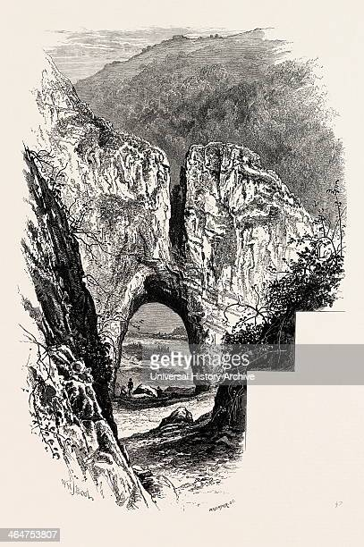 Reynard's Cave Dove Dale The Dales Of Derbyshire Country UK Uk Britain British Europe United Kingdom Great Britain European 19th Century Engraving