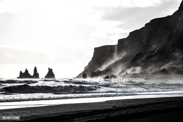 Reynisdrangar coast and rock formations in Iceland