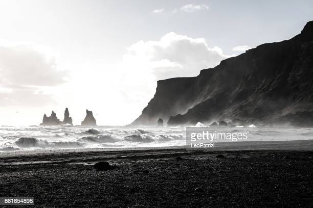 Reynisdrangar coast and rock formations in Iceland
