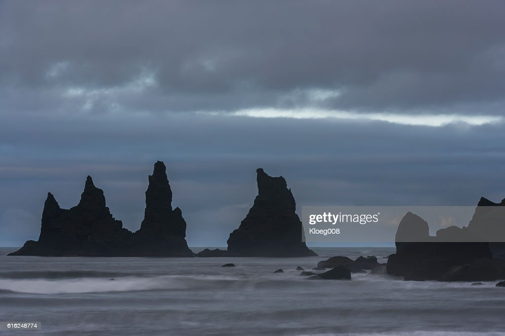Reynisfjara and Black Sand  Beach near Vik : Stock-Foto