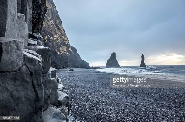 Reynisfjara basalt rock formations