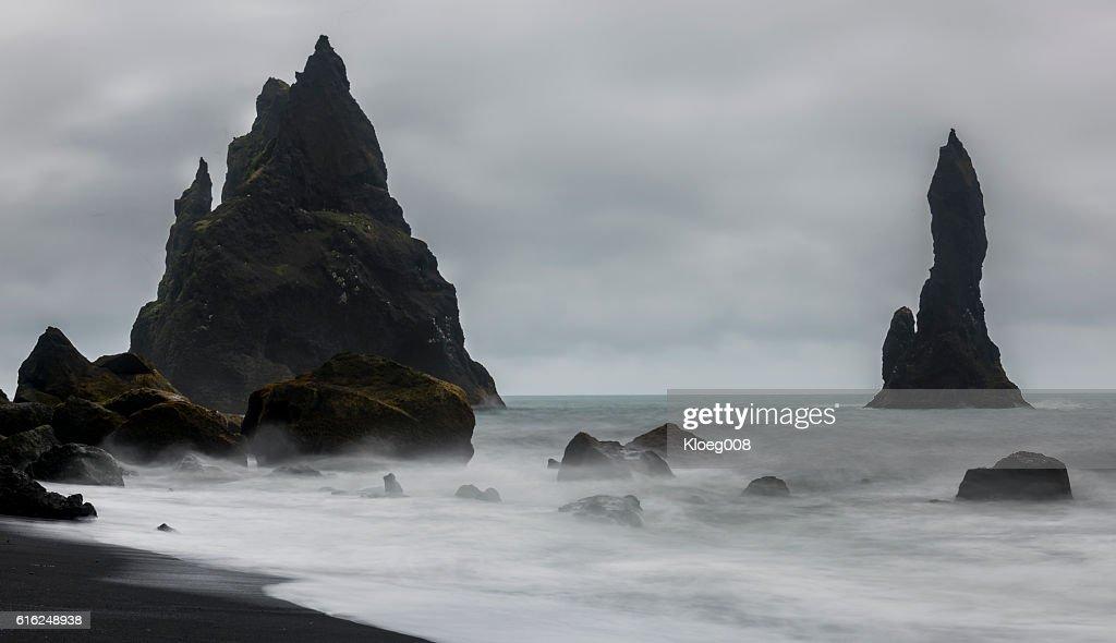 Reynisfjara Black Sand and  Beach : Stock-Foto