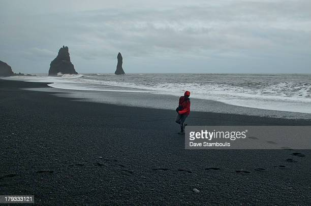 CONTENT] Reynisfjara black sand beach in Vik southern Iceland