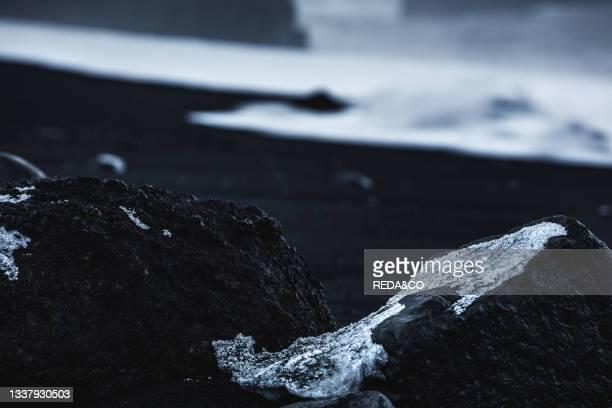 Reynisfjara Black Sand Beach. Vik. Iceland. North Atlantic Ocean.