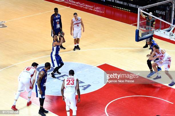 JR Reynolds of Gravelines during the Pro A match between Monaco and Gravelines Dunkerque on February 11 2018 in Monaco Monaco