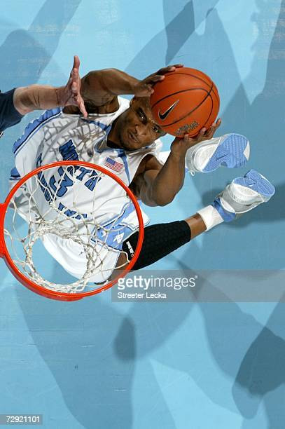 Reyshawn Terry of the University of North Carolina Tar Heels goes to the basket during their game against the Pennsylvania Quakers on January 3 2007...