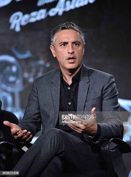 Reza Aslan attends the Ovation 2016 Winter TCA Tour introducing three series featuring Rachel Hunter Reza Aslan Norman Lear And Yannick Bisson at...