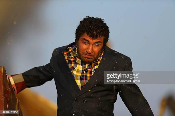 Reza Ataran in action during 'Sperm Whale' Movie on December 13 2014 in Tehran Iran