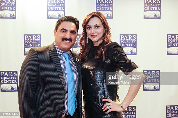Reza Farahan and Bita Daryabari attend the PARS Equality Center 4th Annual Nowruz Gala at Marriott Waterfront Burlingame Hotel on March 8 2014 in...