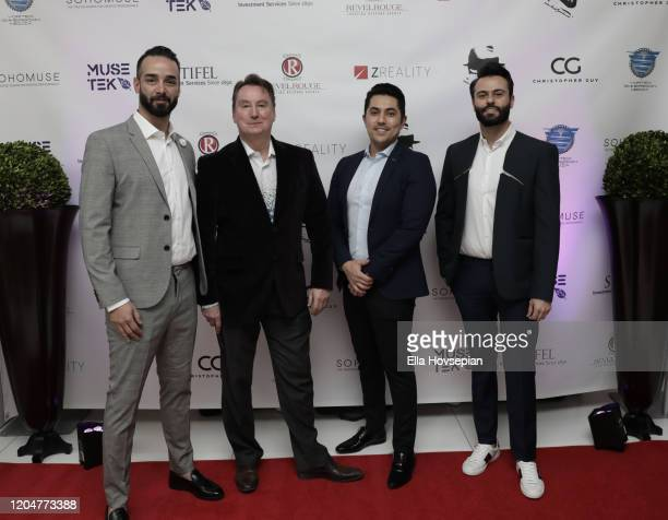 Reza Fazadous Jon Spurlock Danny Tohir and Hadi Mousalreza at the LA Launch Event Of SohoMuse at Christopher Guy West Hollywood Showroom on February...