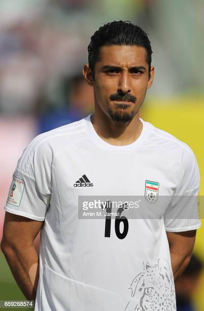 Reza Ghoochannejhad of Iran looks on during Iran against China PR FIFA 2018 World Cup Qualifier on March 28 2017 in Tehran Iran