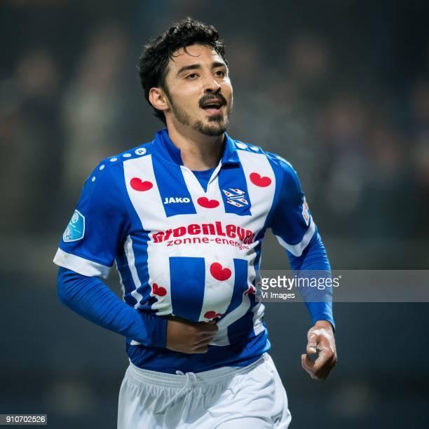 Reza Ghoochannejhad of sc Heerenveen 11 during the Dutch Eredivisie match between sc Heerenveen and Sparta Rotterdam at Abe Lenstra Stadium on...