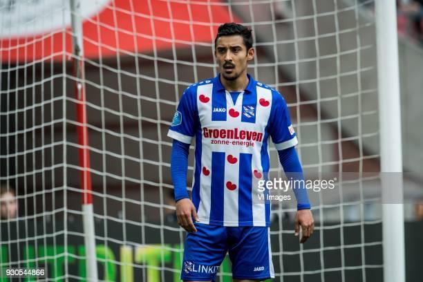 Reza Ghoochannejhad of sc Heerenveen during the Dutch Eredivisie match between Ajax Amsterdam and sc Heerenveen at the Amsterdam Arena on March 11...