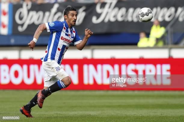 Reza Ghoochannejhad of sc Heerenveen during the Dutch Eredivisie match between sc Heerenveen and Ajax Amsterdam at Abe Lenstra Stadium on October 01...