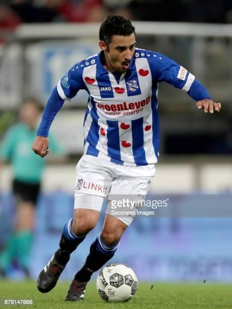 Reza Ghoochannejhad of SC Heerenveen during the Dutch Eredivisie match between SC Heerenveen v PEC Zwolle at the Abe Lenstra Stadium on November 25...