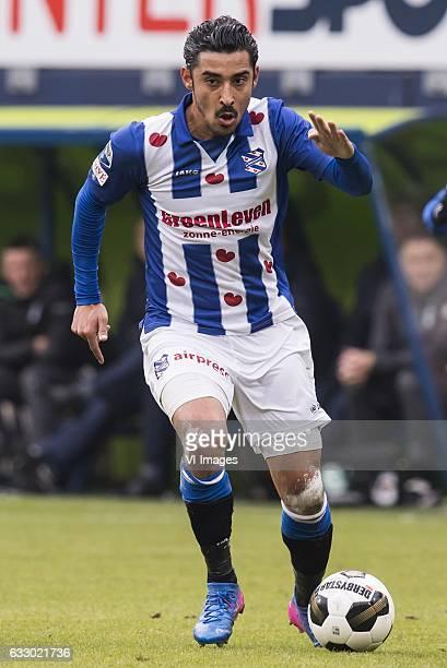 Reza Ghoochannejhad of sc Heerenveenduring the Dutch Eredivisie match between sc Heerenveen and FC Groningen at Abe Lenstra Stadium on January 29...