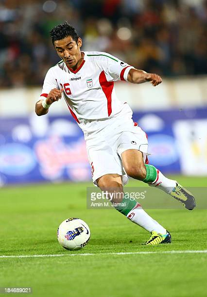 Reza Ghouchannejad during AFC Asian Cup Qualifiers between Iran and Thailand at Azadi Stadium Tehran Iran on October 15 2013 in Tehran Iran