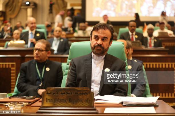 Reza Najafi, Director General of the Islamic Republic of Iran's Department of International Peace and Security Affairs attends a summit meeting of...