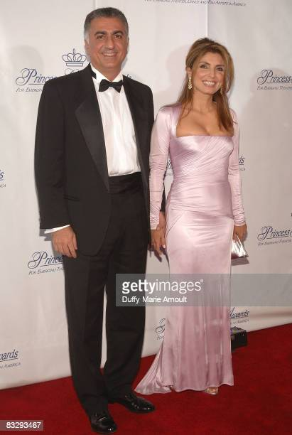 Reza Pahlavi Crown Prince of Iran and princess Yasmine Pahlavi attend the 2008 Princess Grace awards gala at Cipriani 42nd Street on October 15 2008...