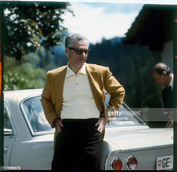 Reza Pahlavi, Shah of Persia, in Gstaad, 1966