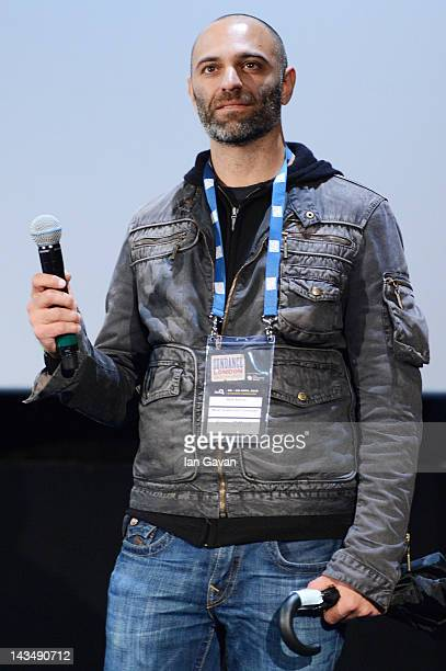 Reza Safinia speaks at the Filly Brown screening and QA during Sundance London at Cineworld 02 Arena on April 27 2012 in London England