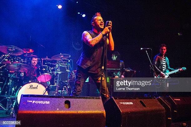 Reza Udhin of Black Volition performs at The Forum on December 21 2015 in London England