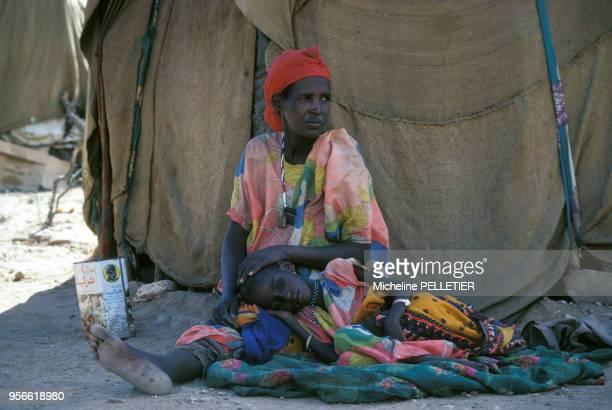 Réfugiés dans le Campement du Front de Libération somalien en mai 1980 en Somalie
