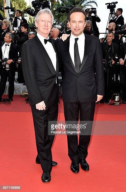 Régis Wargnier and Vincent Perez attend the 'Loving' premiere during the 69th annual Cannes Film Festival at the Palais des Festivals on May 16 2016...