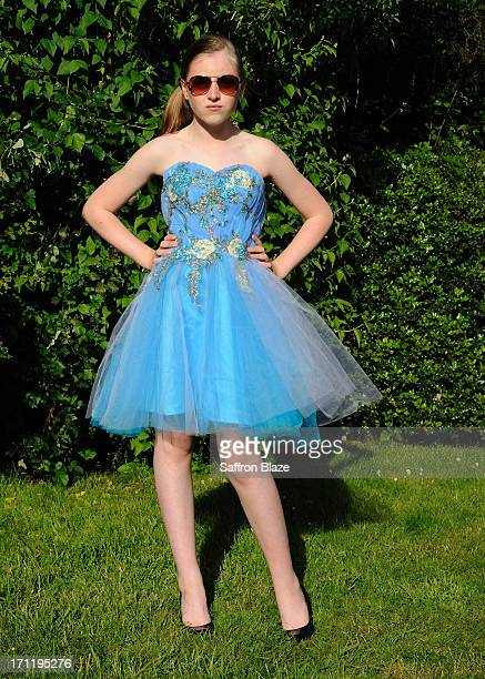 rhapsody in blue - prom dress stock pictures, royalty-free photos & images