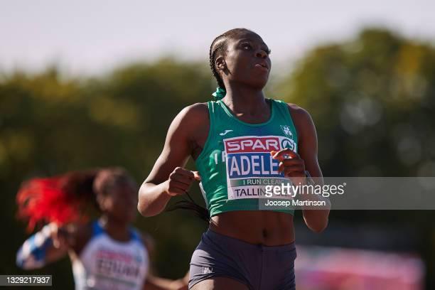 Rhasidat Adeleke of Ireland competes in the Women's 200m Final during European Athletics U20 Championships Day 3 at Kadriorg Stadium on July 17, 2021...