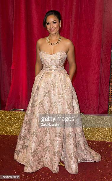Rhea Bailey arrives for British Soap Awards 2016 at Hackney Empire on May 28 2016 in London England