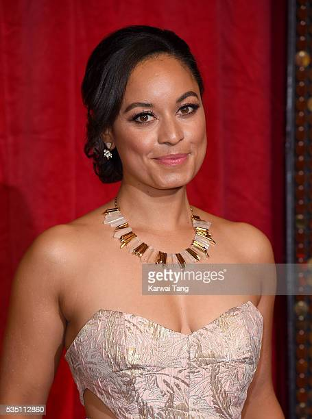 Rhea Bailey arrives for the British Soap Awards 2016 at the Hackney Town Hall Assembly Rooms on May 28 2016 in London England