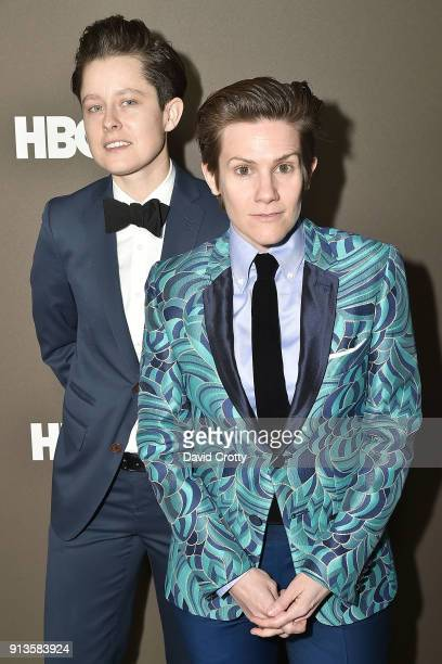 Rhea Butcher and Cameron Esposito attend HBO's '2 Dope Queens' Los Angeles Slumber Party Premiere at NeueHouse Hollywood on February 2 2018 in Los...