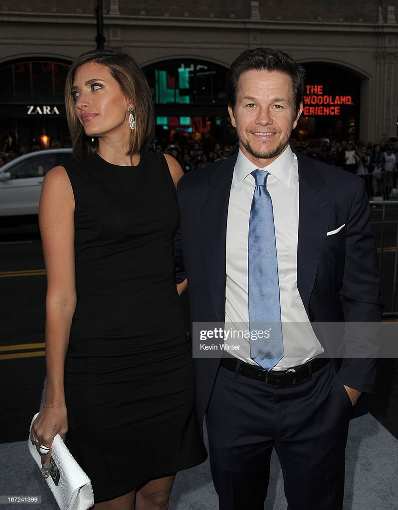 Rhea Durham (L) and actor Mark Wahlberg arrive at the premiere of Paramount Pictures''Pain & Gain' at TCL Chinese Theatre on April 22, 2013 in Hollywood, California.