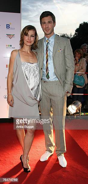 Rhea Harder and boyfriend Jochen Schropp attend the 7th Reminders Day Aids Gala at the Berlin city hall September 1 2007 in Berlin Germany