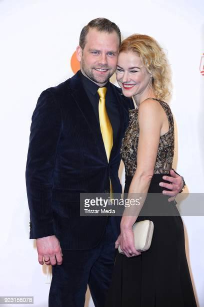 Rhea Harder and her husband Joerg Vennewald attend the Goldene Kamera on February 22 2018 in Hamburg Germany
