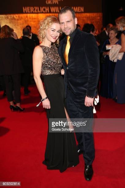 Rhea Harder and her husband Joerg Vennewald during the Goldene Kamera reception on February 22 2018 at the Messe Hamburg in Hamburg Germany