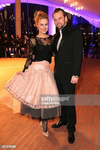 Rhea Harder and her husband Joerg Vennewald during the opening concert of the Elbphilharmonie concert hall on January 11 2017 in Hamburg Germany