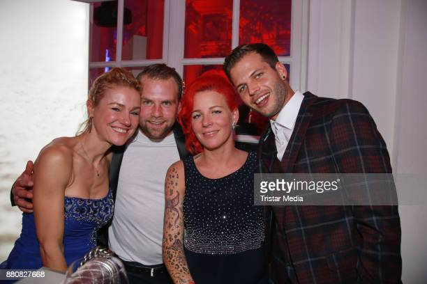 Rhea Harder and her husband Joern Vennewald Dana Diekmeier and her husband Dennis Diekmeier attend the Movie Meets Media event 2017 at Hotel Atlantic...