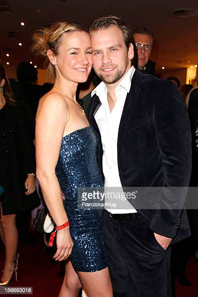 Rhea Harder and Joerg Vennewald attend the ROCKY Musical Gala Premiere at TUI Operettenhaus on November 18 2012 in Hamburg Germany