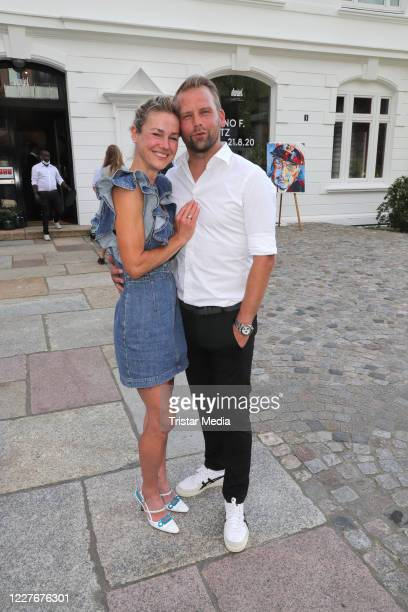Rhea HarderVennewald and her husband Joerg Vennewald during the Bruno F Apitz exhibition opening on July 17 2020 in Hamburg Germany
