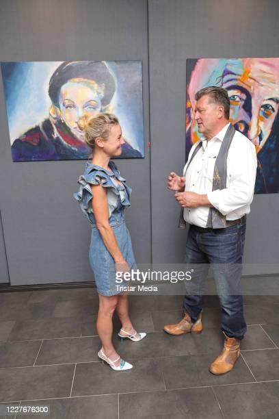 Rhea HarderVennewald Bruno F Apitz during the Bruno F Apitz exhibition opening on July 17 2020 in Hamburg Germany