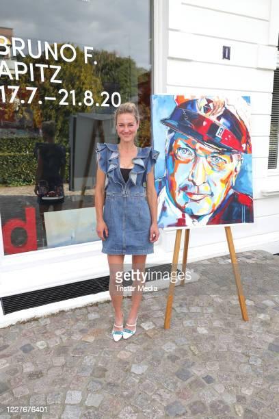 Rhea HarderVennewald during the Bruno F Apitz exhibition opening on July 17 2020 in Hamburg Germany