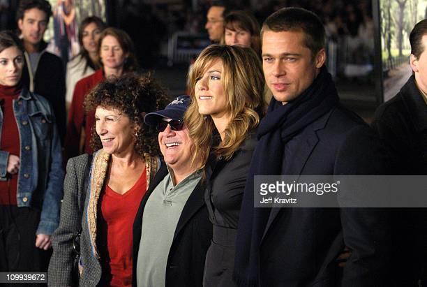 Rhea Pearlman Danny Devito Jennifer Aniston and Brad Pitt