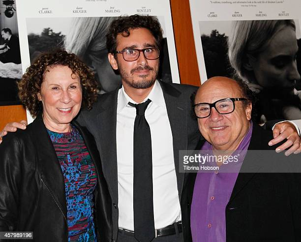 Rhea Perlman Jake DeVito and Danny DeVito attend the premiere of Amplify's 'The Better Angels' at DGA Theater on October 27 2014 in Los Angeles...