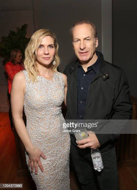 Rhea Seehorn and Bob Odenkirk attend the premiere of AMC's Better Call Saul Season 5 After Party on February 05 2020 in Los Angeles California