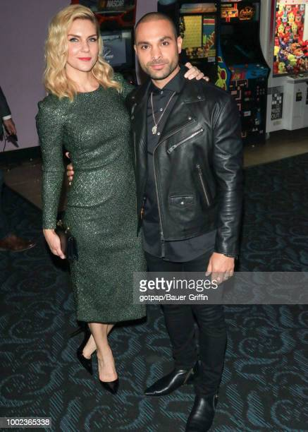 Rhea Seehorn and Michael Mando are seen on July 19 2018 in California