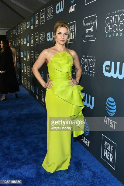 Rhea Seehorn at Claire Foy Accepts The #SeeHer Award At The 24th Annual Critics' Choice Awards The Barker Hanger on January 13 2019 in Santa Monica...