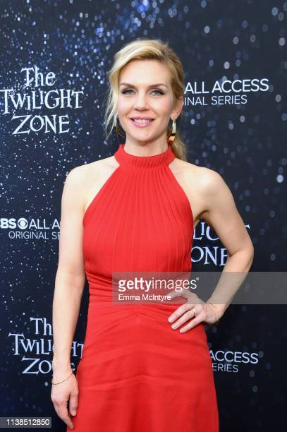 Rhea Seehorn attends CBS All Access new series The Twilight Zone premiere at the Harmony Gold Preview House and Theater on March 26 2019 in Hollywood...